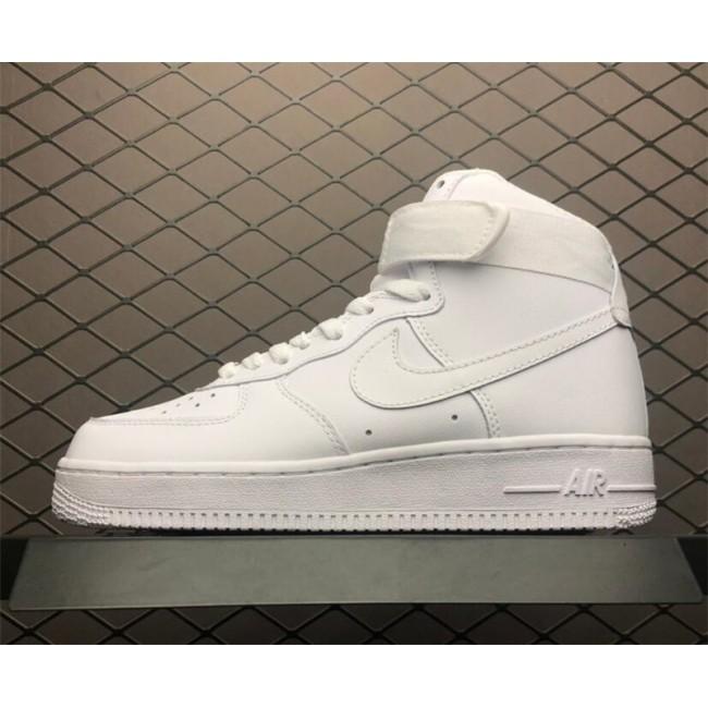 Mens/Womens Nike Air Force 1 High All White 334031-105