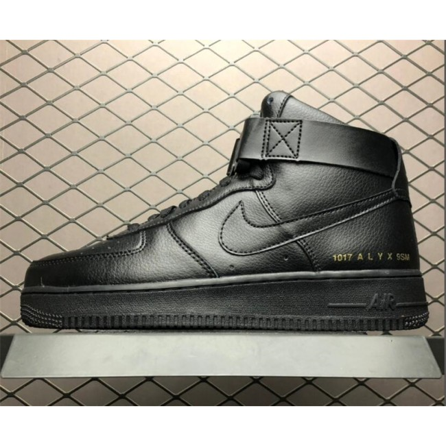 Mens New Nike Air Force 1 High 07 Triple Black Shoes