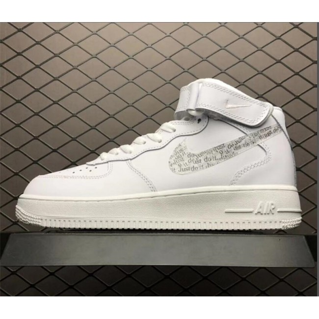 Mens/Womens New Nike Air Force 1 Mid Just Do It Pack White
