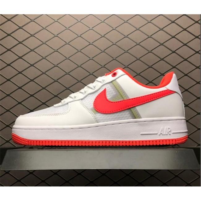 Mens/Womens Men and Nike AF 1 Low Transparent White Crimson