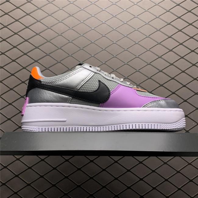 Womens Nike AF1 Air Force 1 Shadow Metallic Silver Size