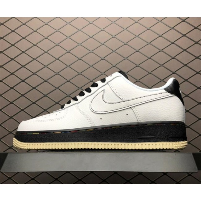 Mens/Womens Nike Air Force 1 07 Low Patterson Square White Black