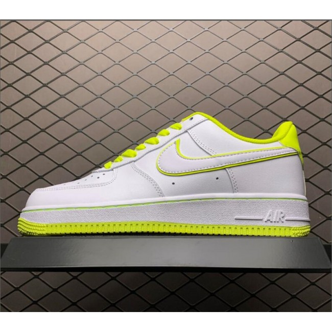 Mens/Womens Nike Air Force 1 07 Low White Yellow On Sale