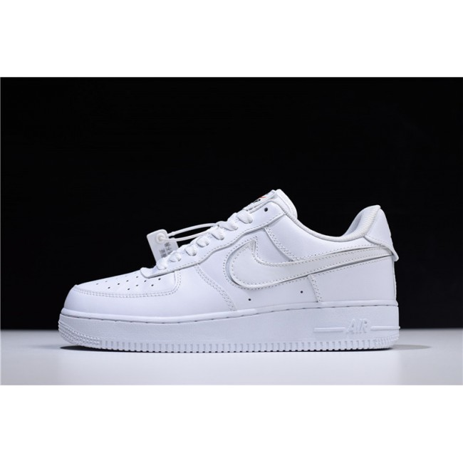 Mens/Womens Nike Air Force 1 07 QS Velcro Swoosh Pack White