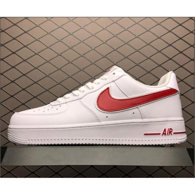 Mens/Womens Nike Air Force 1 07 White Red AO2423-102
