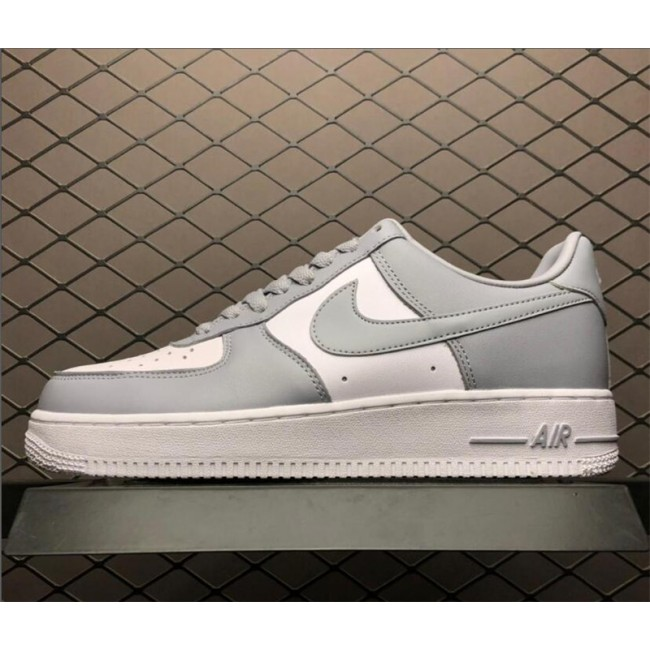 Mens Nike Air Force 1 AF1 Low White Wolf Grey Shoes