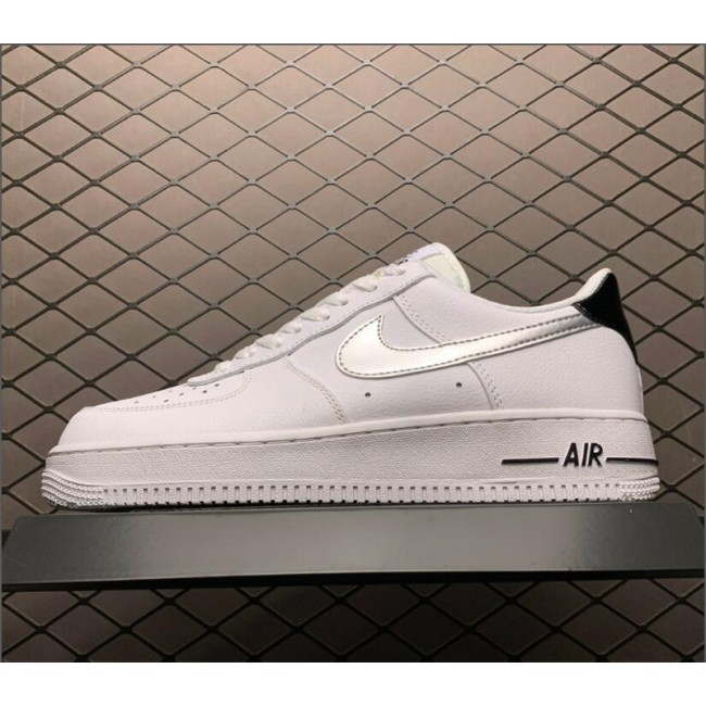 Mens/Womens Nike Air Force 1 GS Low White Metallic Silver On Sale