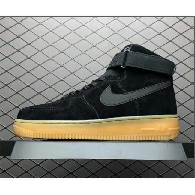 Mens/Womens Nike Air Force 1 High 07 LV8 Suede Black Gum