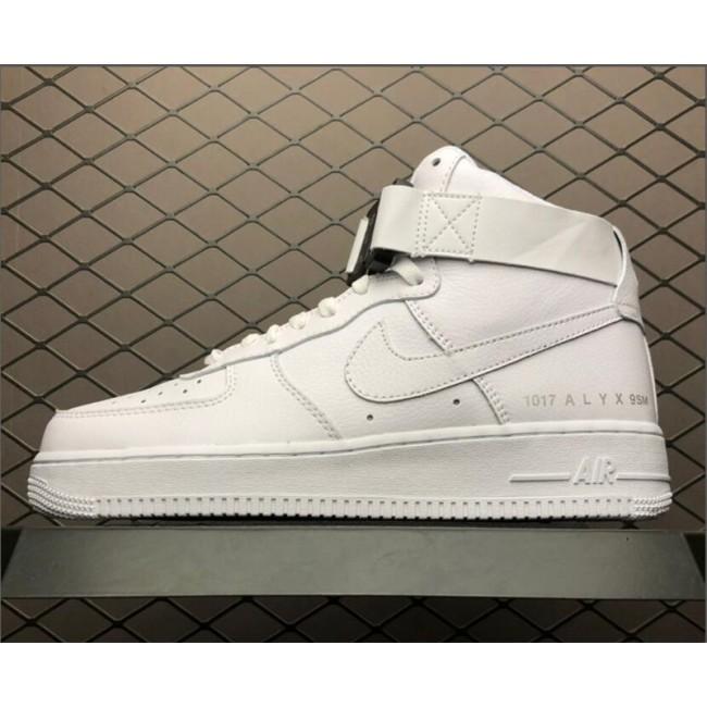 Mens/Womens Nike Air Force 1 High 1017 ALYX 9SM Triple White