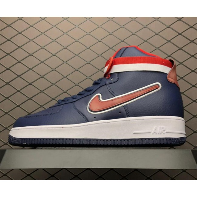 Mens/Womens Nike Air Force 1 High Midnight Navy-University Red-White