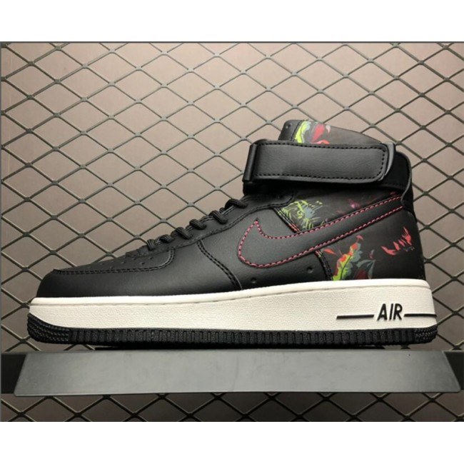 Mens/Womens Nike Air Force 1 High QS YH Black White Colorful