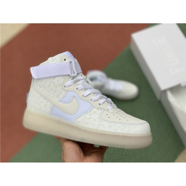 Mens/Womens Nike Air Force 1 High Stash White AO9296-100