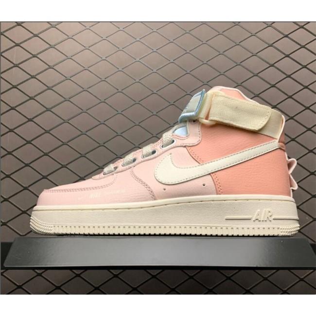 Womens Nike Air Force 1 High Utility Echo Pink Sail CQ4810-621