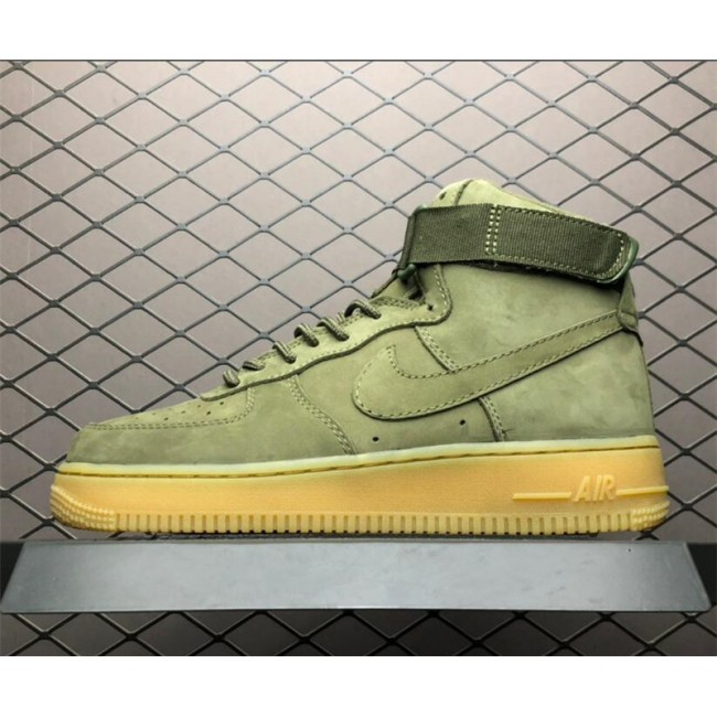 Mens/Womens Nike Air Force 1 High WB Medium Olive Gum Light Brown-Black