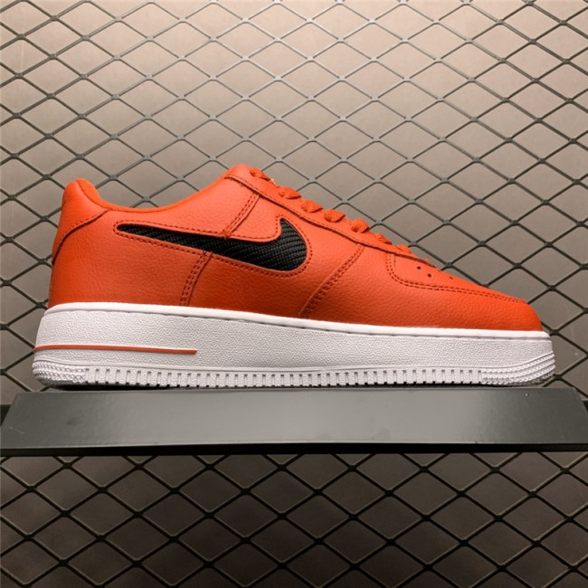 Mens/Womens Nike Air Force 1 Low Bold Red Cut Out Swoosh