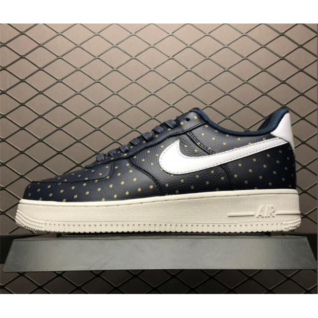 Mens/Womens Nike Air Force 1 Low Dark Blue Gold-White