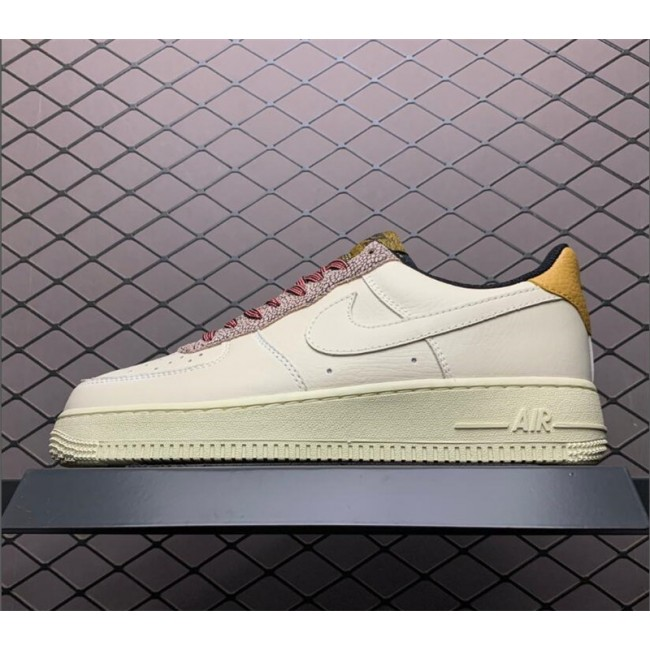 Mens/Womens Nike Air Force 1 Low Fossil Wheat-Shimmer Sneakers Sale