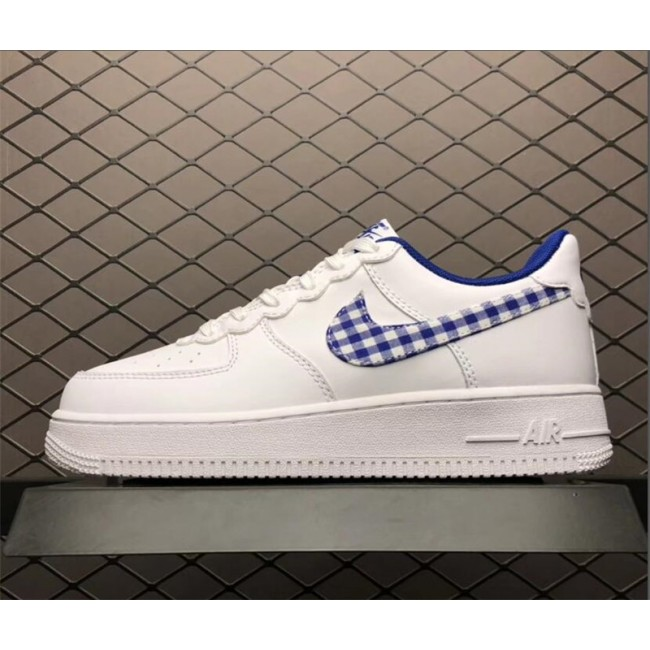 Mens/Womens Nike Air Force 1 Low Gingham White Indigo Force White