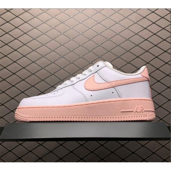 Womens Nike Air Force 1 Low GS White Pink Foam Outlet Online