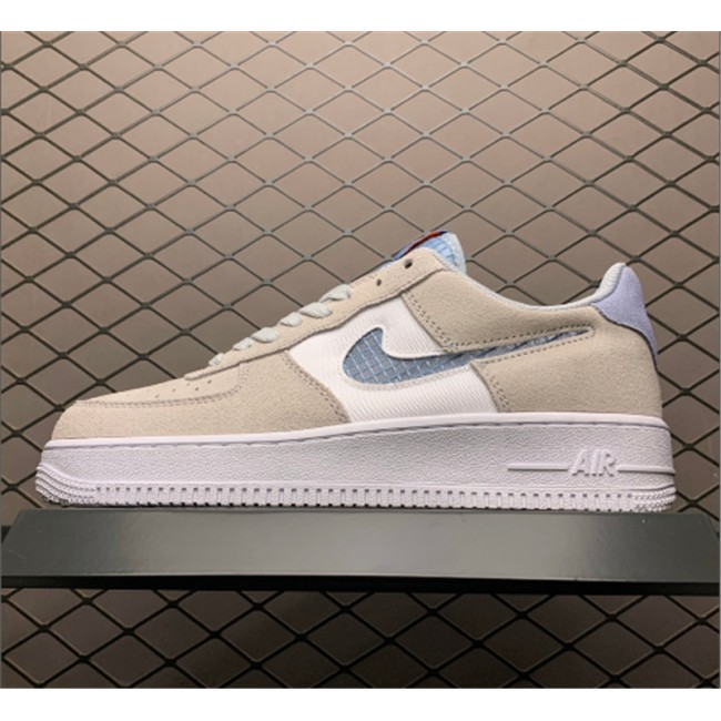 Mens/Womens Nike Air Force 1 Low Indigo Fog Pure Platinum On Sale