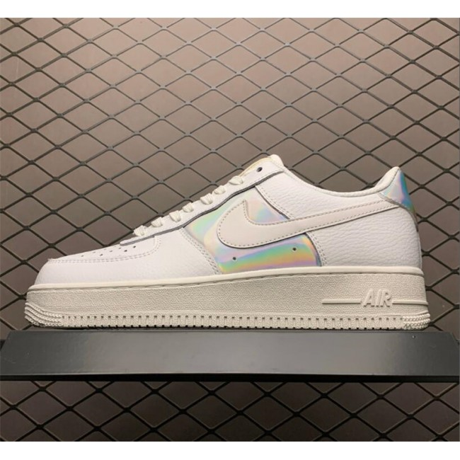Mens/Womens Nike Air Force 1 Low Iridescent Summit White Metallic Silver