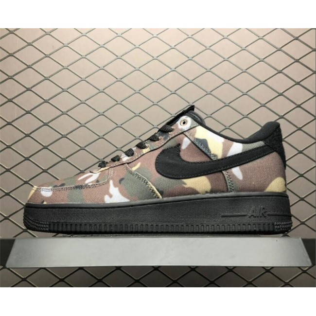 Mens/Womens Nike Air Force 1 Low Italy Camo Ale Brown Black-Cargo Khaki
