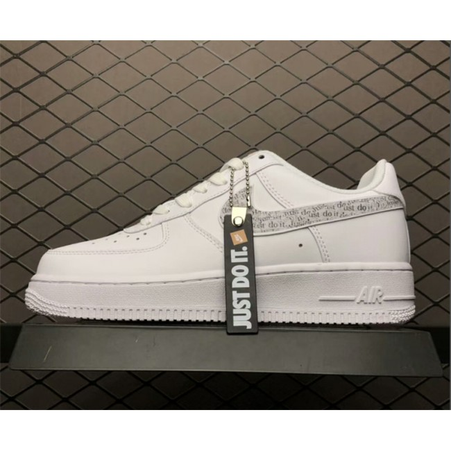 Mens/Womens Nike Air Force 1 Low Just Do It Pack White