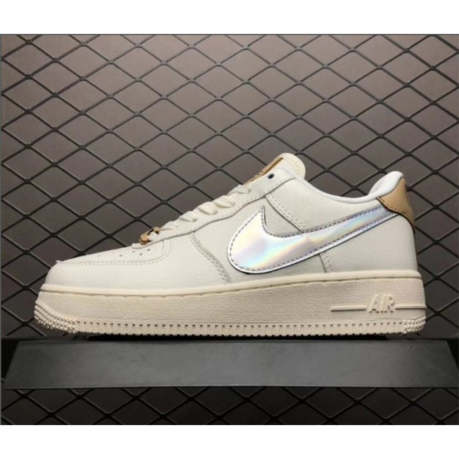 Mens/Womens Nike Air Force 1 Low Laser Nai Ke Beige Khaki AV2038-100