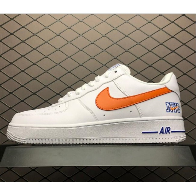 Mens/Womens Nike Air Force 1 Low NYC HS White Safety Orange-Game Royal