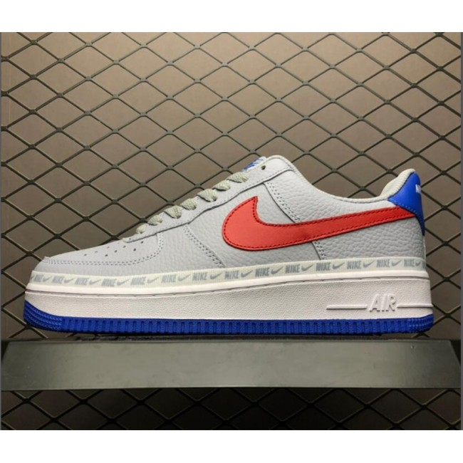Mens/Womens Nike Air Force 1 Low Overbranding Grey Blue Red Online