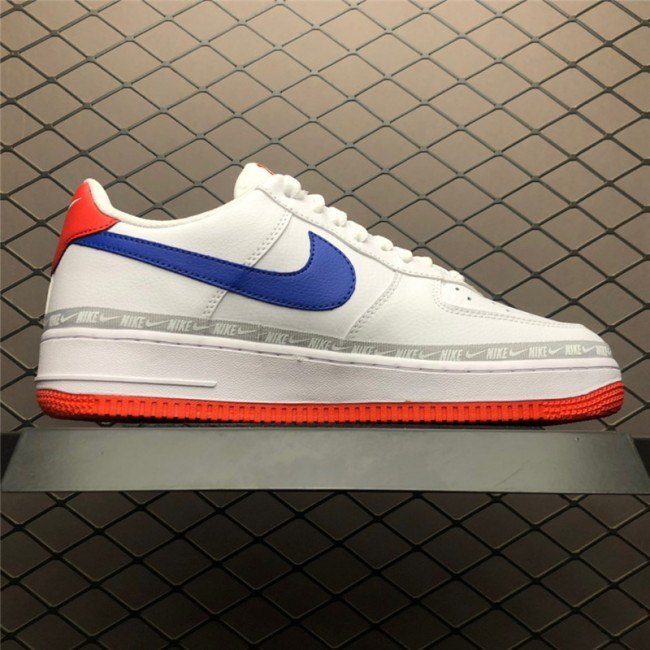 Mens/Womens Nike Air Force 1 Low Overbranding White Red Blue