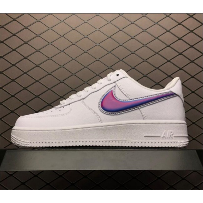 Mens/Womens Nike Air Force 1 Low Oversized Swoosh White Blue
