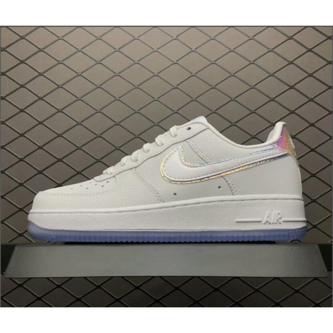 Mens/Womens Nike Air Force 1 Low Premium Leather White Blue Tint