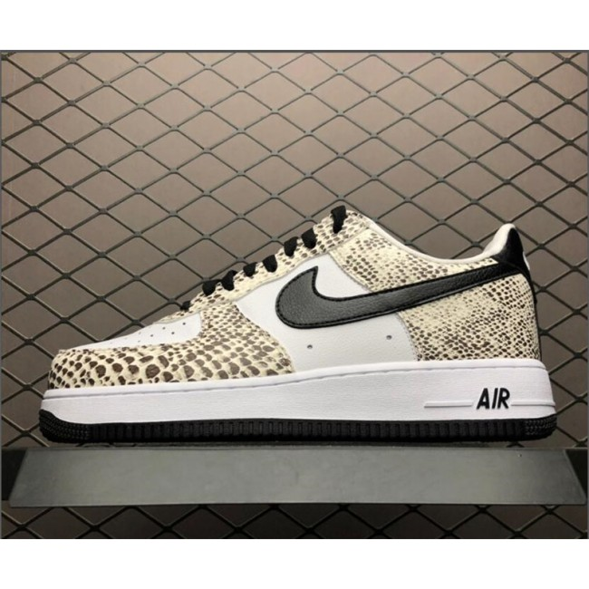 Mens/Womens Nike Air Force 1 Low Retro Cocoa Snake Black White