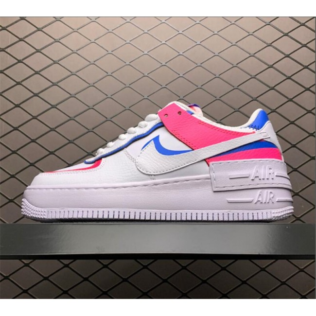 Womens Nike Air Force 1 Low Shadow Pink Blue Sale CU3012-111
