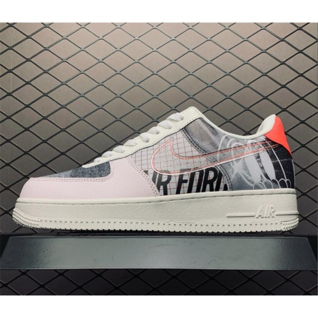 Mens/Womens Nike Air Force 1 Low Tri-Color Canvas Light Soft Pink Sail