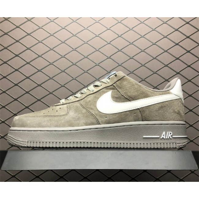 Mens/Womens Nike Air Force 1 Low Upstep Grey White Shoes