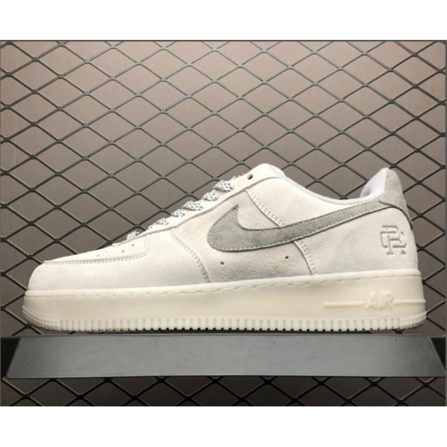 Mens/Womens Nike Air Force 1 Low White Grey Sneakers