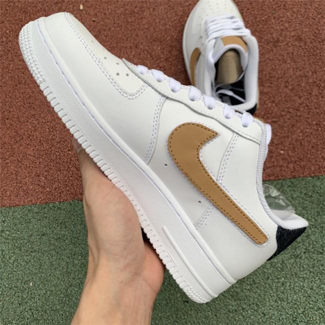 Mens/Womens Nike Air Force 1 Low White Obsidian-Vachetta Tan-White