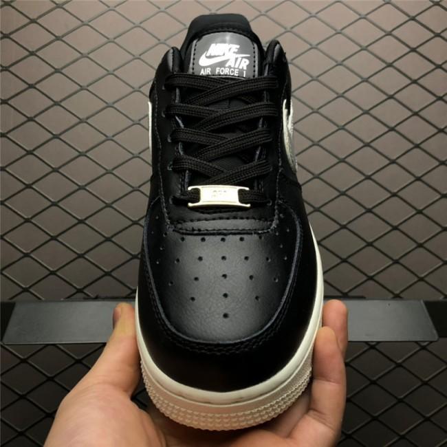 Womens Nike Air Force 1 07 MTLC Black Metallic Platinum White