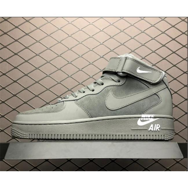 Mens Nike Air Force 1 Mid 07 Dark Grey White