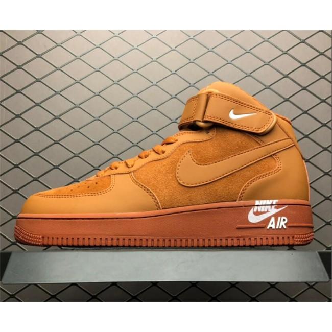 Mens/Womens Nike Air Force 1 Mid 07 Orange 315123-207 On Sale