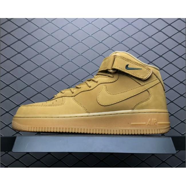 Mens/Womens Nike Air Force 1 Mid 07 PRM QS Flax Wheat 715889-200