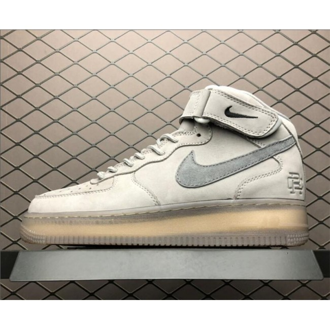 Mens/Womens Nike Air Force 1 Mid 07 X Reigning Champ Grey Shoes