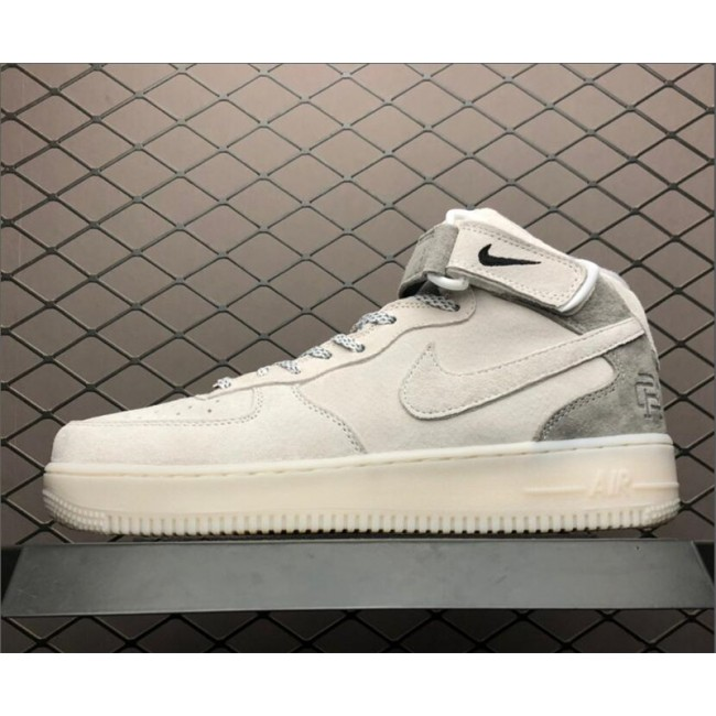 Mens/Womens Nike Air Force 1 Mid AF1 X Reigning Champ White Grey Black