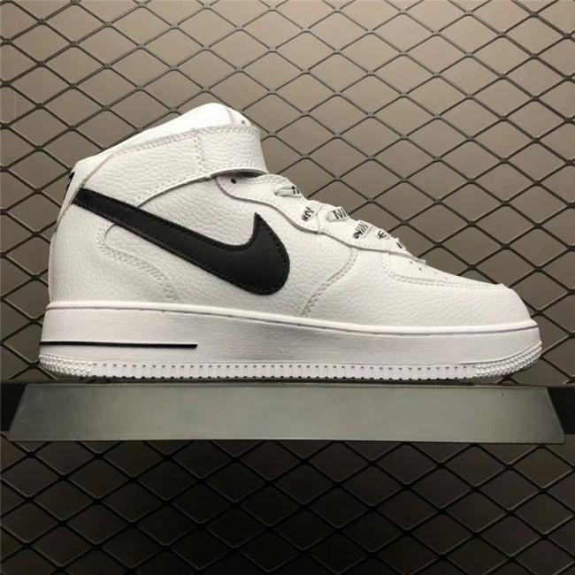 Mens/Womens Nike Air Force 1 Mid NBA White Black 823511-103