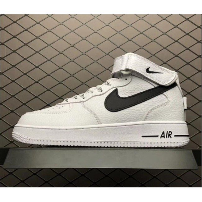 Mens/Womens Nike Air Force 1 Mid NBA White Black 823511-103