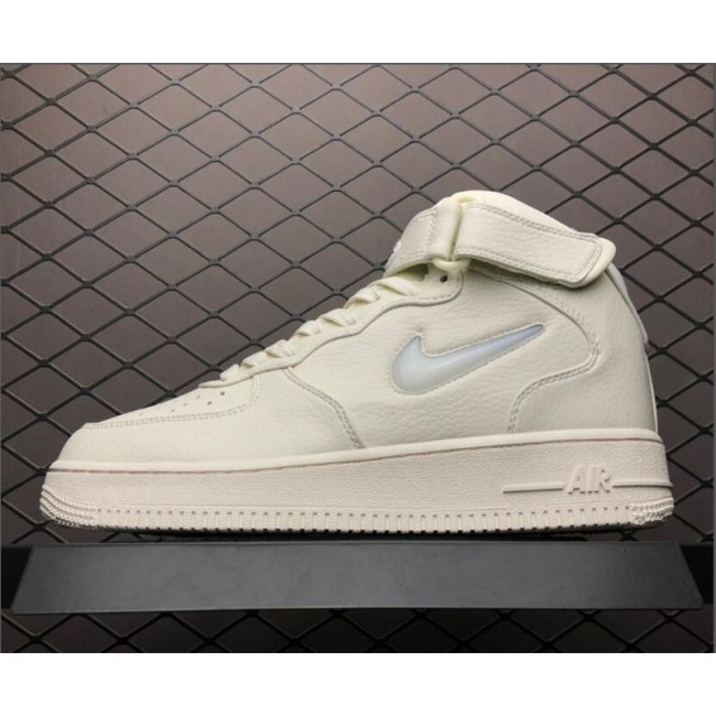 Mens Nike Air Force 1 Mid PRM Jewel Sail