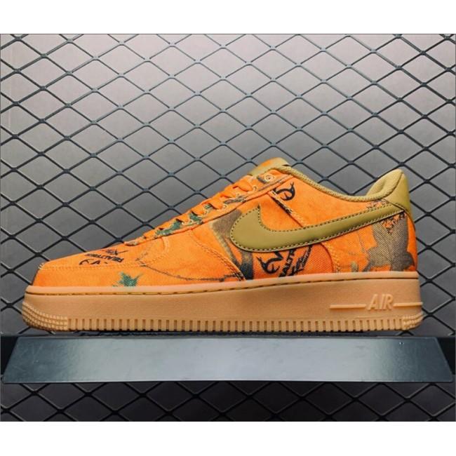 Mens/Womens Nike Air Force 1 Realtree Camo Orange On Sale AO2441-800