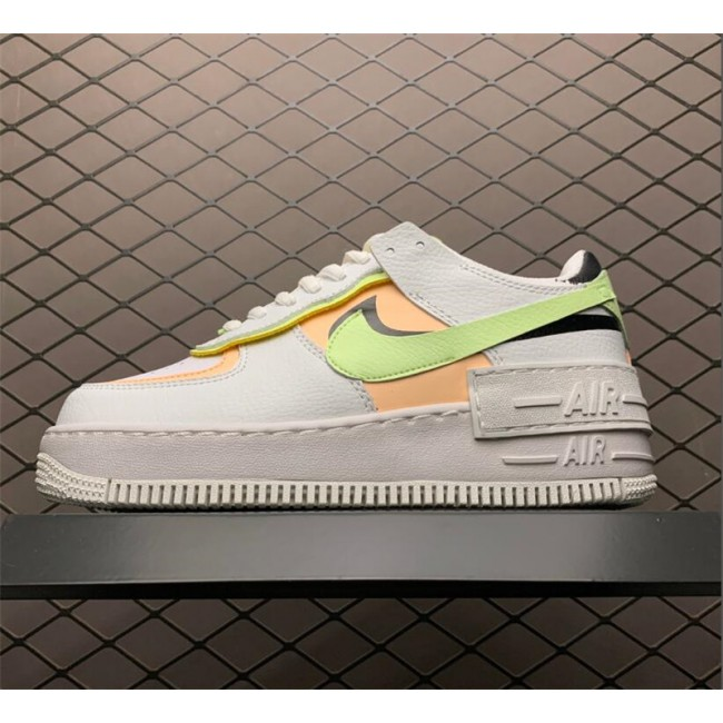 Womens Nike Air Force 1 Shadow Summit White Black Barely Volt